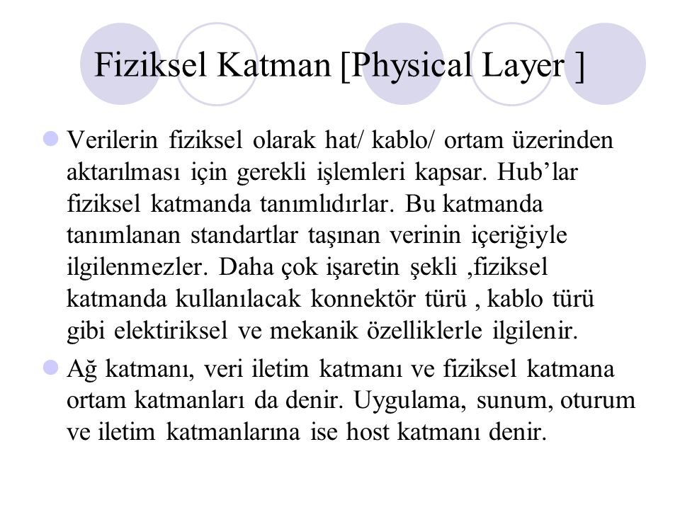 Fiziksel Katman [Physical Layer ]